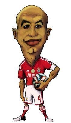 Caricatura de Luisão, SLB