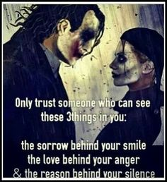 Most memorable quotes from Joker, a movie based on film. Find important Joker Quotes from film. Joker Quotes about who is the joker and why batman kill joker. Der Joker, Joker Und Harley Quinn, Harley And Joker Love, Harley Batman, Joker Frases, Quotes To Live By, Life Quotes, My Demons, Madly In Love