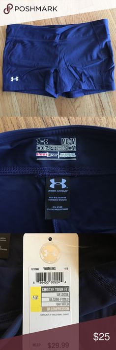 NEW Under Armour Heat Gear Volleyball Shorts Navy blue, brand new Under Armour Shorts