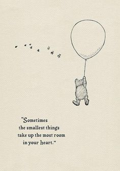 Sometimes the smallest things take up the most room in your heart- Pooh Quotes c. - Sometimes the smallest things take up the most room in your heart- Pooh Quotes classic vintage style poster print – Jessica Korosec – Source by Winterfrostfire - Motivacional Quotes, Cute Quotes, Words Quotes, Style Quotes, Cute Disney Quotes, Baby Love Quotes, Tattoo Quotes, Lucky Quotes, Disney Sayings