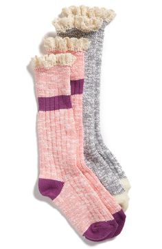 Tucker + Tate Marled Boot Socks (2-Pack) (Little Kid & Big Kid) available at #Nordstrom