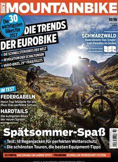 #Spätsommer-Spaß: 18 #Regenjacken für perfekten Wetterschutz 🚵 Jetzt in MountainBIKE, Ausgabe 10/2016.  #MTB #Fahrrad #Mountainbike