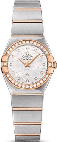 9c3d4d6ad70 Omega Watch for Women Omega Constellation Mother of Pearl Diamond Dial  Steel and 18kt Rose Gold