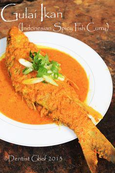 resep gulai ikan coconut curry fish