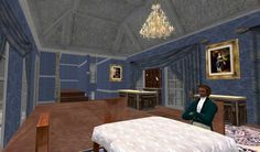 Dining Regency Style - the inn at Port Austen. http://maps.secondlife.com/secondlife/Antiquity%20Argyle/71/74/26