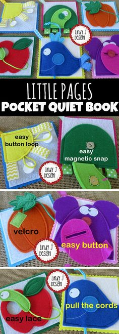 Little Pages Colors Pocket Quiet Book #colors #quietbook #busybags #preschool #preschoolers #prek #toddler #travel #affiliate
