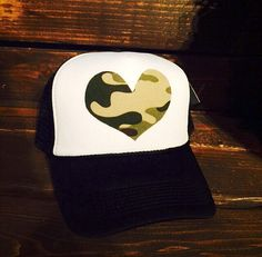 Hey, I found this really awesome Etsy listing at https://www.etsy.com/ru/listing/225641076/camo-heart-womens-trucker-hat-snapback