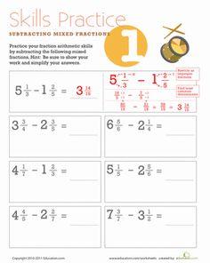 Subtracting mixed numbers Middle School Practicum