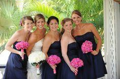 blue and pink wedding | Cayman Islands Real Wedding :: Rhian and Matt | Crystal Blue Weddings