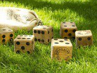 The Grommet team discovers fun outdoor games from Yard Dice. Fun backyard game for the family. Get the whole family involved for a little competitive fun. Great for the beach, park and parties!