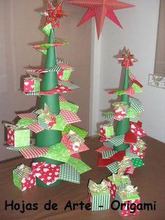 Foglie Art - ORIGAMI - Natale - Natale, altre idee per alberi di natale origami