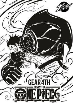Luffy Gear 4th by nordin92.deviantart.com on @DeviantArt