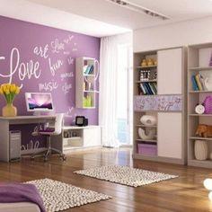 dormitorio femenino púrpura