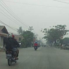 Kabut asap padang pagi ini... SANGAT PARAH!  OLRET.com
