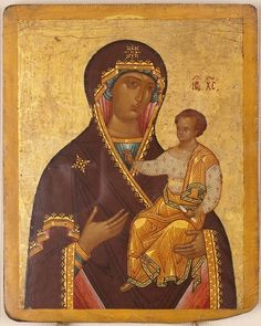 Богоматерь Одигитрия. Конец XV The Virgin Hodegetria. The end of the XV