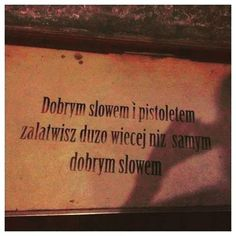 Bo same słowa nic nie znaczą, jeśli nie wypełni się ich treścią.  #cynicznyromantyzm #cynical #words #mean #content #good #gun #streetart #poland #poet #poetry #fill