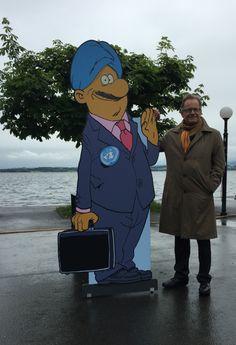 Michael Møller, directeur général de l'Office des Nations Unies à Genève, en visite à Zoug