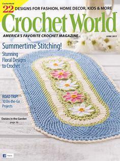 Crochet World June 2017 - 轻描淡写 - 轻描淡写