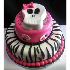 Pink Skull Birthday Party Ideas found on Polyvore