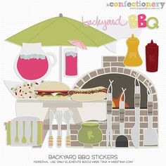 SHCO Confectionery - PU - Elements - Stickers: Backyard BBQ {PU} Join at http://www.sugarhillco.com/cc
