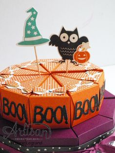 How-o-ween bundle & Cutie pie thinlits dies - Hélène LEGRAND - Stamp 2 LiNotte Diy Halloween Decorations, Halloween Cards, Holidays Halloween, Halloween Themes, Halloween Diy, Stampin Up, Cricut Cake, Berry Baskets, Paper Cake