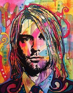 Kurt Cobain - Left at Exit like Hendrix, Basquiat, et al. Riding out to - mbj Grunge Tattoo, Kurt Cobain Art, Rock And Roll, Musik Illustration, Digital Foto, Street Art, Art Sculpture, Music Artwork, Arte Pop