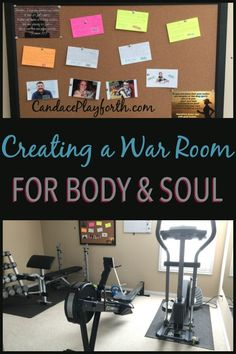 Check out this war room idea for both body and soul! It's the perfect place to pray and workout, getting healthy on every level. This is a fantastic way to spend time with God in prayer while getting our bodies in shape to carry out His will for our lives.