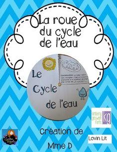 La roue du cycle de l'eau. Les élèves vont créer une roue afin de représenter le cycle de l'eau! Un bon projet pour réviser les étapes.