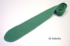 Corbata de ganchillo. Crochet.