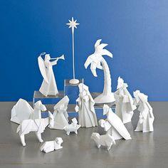 Porcelain Origami Nativity Set                                                                                                                                                                                 More