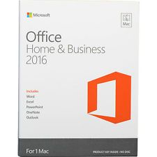 Microsoft Office 2016 for Mac (Home and Business) | FULL | NEW | D/L & KEY|