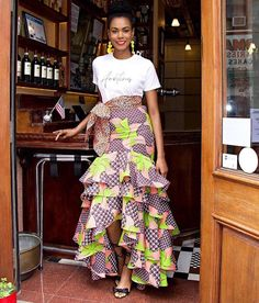 ❤️❤️❤️❤️❤️❤️❤️❤️👗👗👗👗👗 😘😘😘😘😍😍😍😍😍😍😍😍😍😍😍😍Get beautiful and trendy in our lovely collections of ankara available in yards✂✂✂✂we deliver nationwide @ an affordable rate😍😍😍😍 😘😘😘😘 African Wear Dresses, African Inspired Fashion, Latest African Fashion Dresses, African Print Fashion, African Attire, African Print Dress Designs, African Print Skirt, Nigerian Outfits, Style Africain