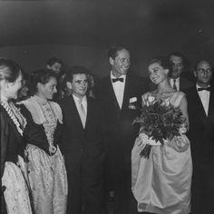 Hotel und Kino Urban: Audrey Hepburn und Mel Ferrer im Kino Urban