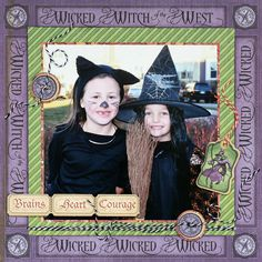 The Graphic 45 The Magic of Oz Collection makes great Halloween layouts. Perfect for witch costumes!