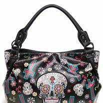 04aebfcc9a03 ED HARDY - LOVE KiLLS SLOWLY !!! Donna Simmons · miss him · Groupon - Sugar  Skull Floral Cross Design Vegan Leather Boho Purse . Groupon… Sugar Skull