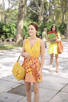 Blair Waldorf in bright yellow