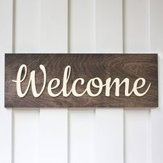 Welcome Sign,Wood Sign. Front Porch Decor, Home Decor, Custom Wood Sign, Wedding Gifts GiftedOccasion.com