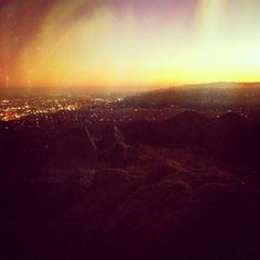 #mars #justkidding Griffith Park Los Angeles #sunset #iphone