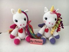 Como tejer Unicornio By Petus PRIMERA PARTE - YouTube Crochet Bib, Crochet Horse, Crochet Unicorn, Unicorn Pattern, Form Crochet, Crochet Gifts, Crochet Animals, Crochet Dolls, Crochet Patterns