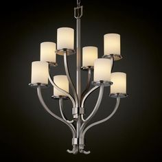 Fusion Sonoma Eight-Light Two-Tier Chandelier