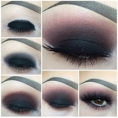 Black Smoky Eye Makeup with Matte Finish