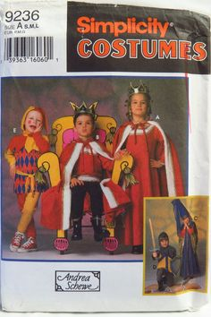 Simplicity 9236 Child's Medieval Costumes