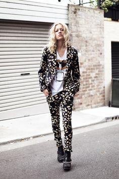 I want to be brave enough to wear matching print pants and blazer, I do. | We The People