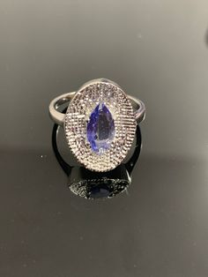 Tanzanite Silver Ring Stone Shape Round Weight 2.3 Gram 925 Sterling Silver Natural Tanzanite Ring Stone Size 3x3 Jewelry A29-41