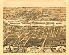 8 x 12 Reproduced Photo of Vintage Old Perspective Birds Eye View Map or Drawing of: Batavia, Kane County, Illinois, Ruger, A. Batavia Illinois, Vintage Prints, Vintage World Maps, Birds Eye View Map, Poster Prints, Art Prints, Poster Poster, Map Art, Canvas Art
