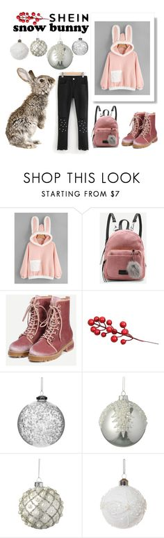 """""""SheIn Snow Bunny"""" by maargita ❤ liked on Polyvore featuring Shishi and Parlane"""