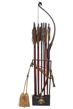Kago yumi (kago hankyu / rimankyu).  a small bow made from horn instead of wood, used by samurai when traveling in a palanquin (litter or sedan chair). Small ya (arrows) and kago ebira (quiver).