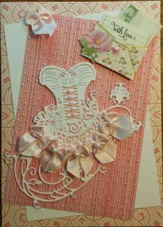 Tattered lace corset card I made 2015