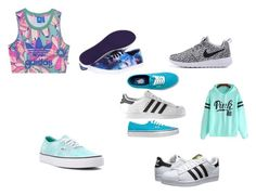 """""""Sin título #7"""" by katherine-macedo on Polyvore featuring moda, adidas, adidas Originals y Vans"""
