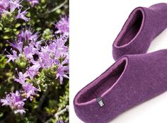 delicate vs. bold wooppers from the DUAL collection. Felted slippers in pure wool, handmade in Greece